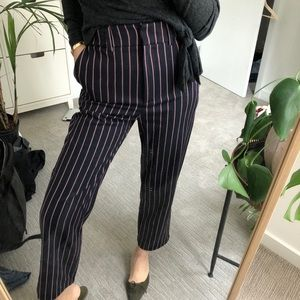 Zara Pants - Zara Pinkstriped Ankle Slacks XS